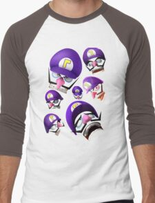Waluigi Face Compilation Men's Baseball ¾ T-Shirt