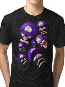 Waluigi Face Compilation Tri-blend T-Shirt