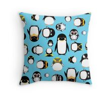 Know Your Penguins Throw Pillow