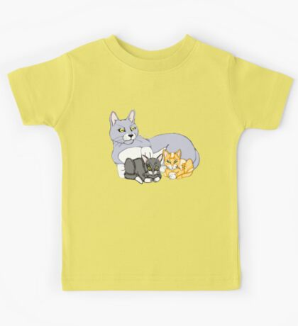 Mothers Love Cat and Kittens Kids Tee