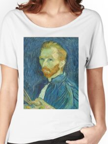 Vincent Van Gogh - Self-Portrait, 1889  Impressionism Women's Relaxed Fit T-Shirt