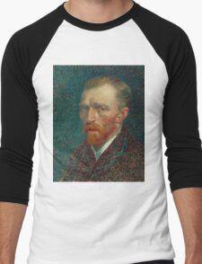 Vincent Van Gogh - Self-Portrait, 1887  Impressionism Men's Baseball ¾ T-Shirt