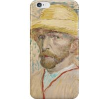 Vincent Van Gogh - Self-portrait with straw hat, March  - June 1887  Impressionism iPhone Case/Skin