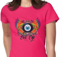 PRETTY WINGED EVIL EYE Womens Fitted T-Shirt