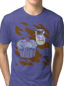 Cupcake & a Glass Tri-blend T-Shirt