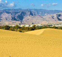 the desert on Gran Canaria Sticker
