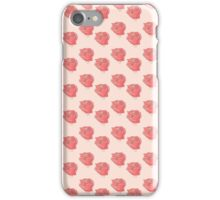 watercolour rose on peach iPhone Case/Skin
