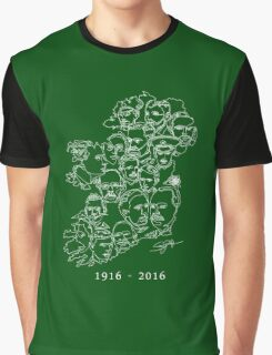 1916 commemorative print: White on Green Graphic T-Shirt