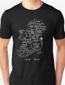 1916 commemorative print: White on Green Unisex T-Shirt