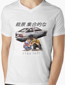 Initial LoFi Mens V-Neck T-Shirt