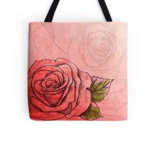 Sketch rose Tote Bag