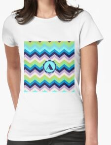 A Turquois Chevron III Womens Fitted T-Shirt
