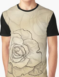 Sketch rose background Graphic T-Shirt