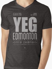 YEG - Edmonton Mens V-Neck T-Shirt