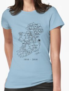 1916 commemorative print: Black on White Womens Fitted T-Shirt
