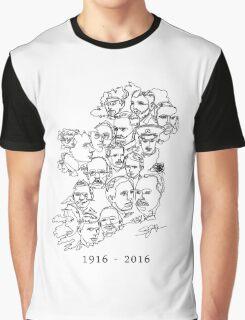 1916 commemorative print: Black on White Graphic T-Shirt