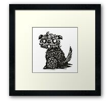 Scruffy Dog- Ink Illustration Framed Print