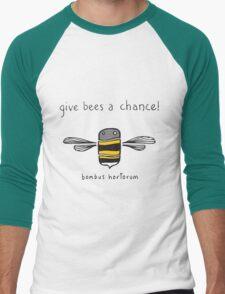 Give bees a chance! Men's Baseball ¾ T-Shirt