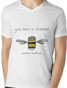 Give bees a chance! Mens V-Neck T-Shirt