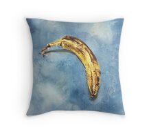 Sad Banana School Portrait Throw Pillow