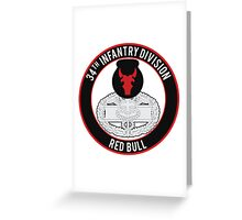 34th Infantry CFMB Greeting Card