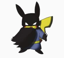 Batchu --- Pikachu as Batman One Piece - Short Sleeve