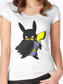 Batchu --- Pikachu as Batman Women's Fitted Scoop T-Shirt