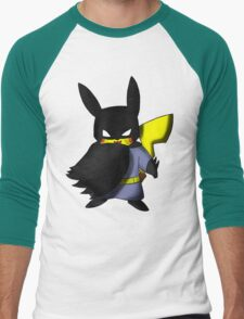 Batchu --- Pikachu as Batman Men's Baseball ¾ T-Shirt