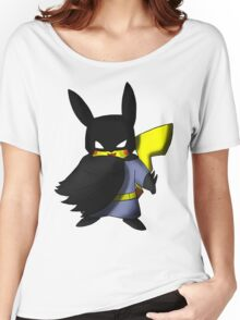 Batchu --- Pikachu as Batman Women's Relaxed Fit T-Shirt