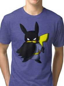 Batchu --- Pikachu as Batman Tri-blend T-Shirt