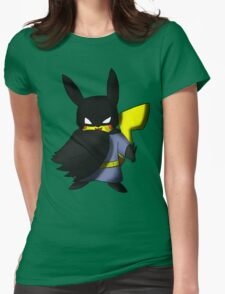 Batchu --- Pikachu as Batman Womens Fitted T-Shirt