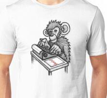 Monkey Writes Hamlet Unisex T-Shirt