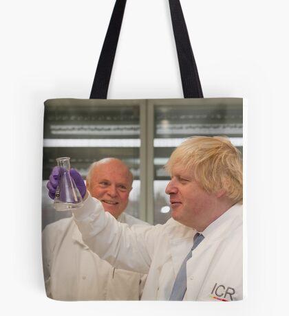 Boris Johnson with chief scientist Tony Ford Tote Bag