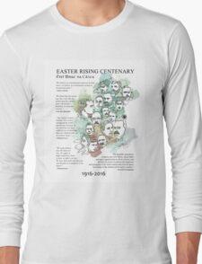 1916 commemorative print: watercolour & pen text Long Sleeve T-Shirt