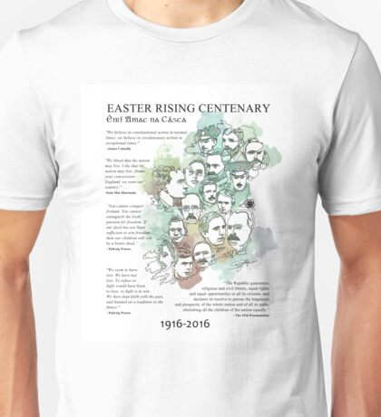 1916 commemorative print: watercolour & pen text Unisex T-Shirt
