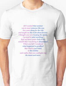Sarah Dessen title poem Unisex T-Shirt