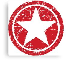Red Star (distressed) Canvas Print