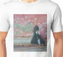 Woman crying at the wailing wall Unisex T-Shirt