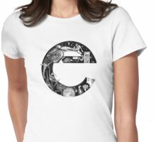 The letter 'e' Womens Fitted T-Shirt