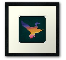 Sunset Duck Hunt Framed Print