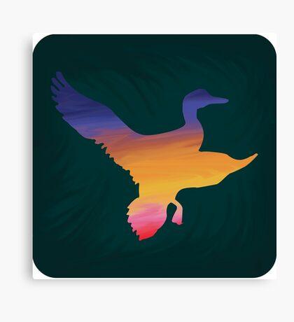 Sunset Duck Hunt Canvas Print