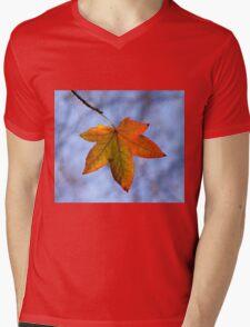 Autumn Leaf Backlit Mens V-Neck T-Shirt