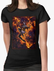Fire of Halloween Womens Fitted T-Shirt