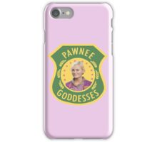 Leslie Knope Pawnee Goddesses Badge iPhone Case/Skin