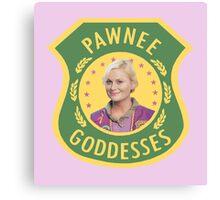 Leslie Knope Pawnee Goddesses Badge Canvas Print