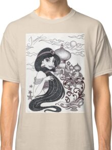 Monochrome Princess J Classic T-Shirt