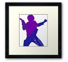 Han Solo Silhouette Framed Print