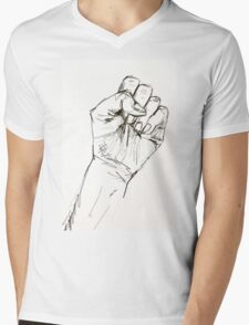 Clenched Protest Fist Mens V-Neck T-Shirt