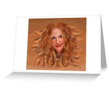 Julorobani - abstract digital portrait Greeting Card