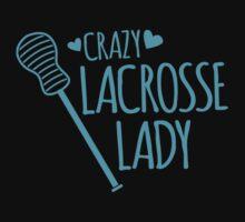 Crazy Lacrosse Lady Kids Tee